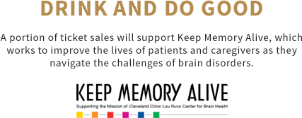 A portion of ticket sales will support Keep Memory Alive, which works to improve the lives of patients and caregivers as they navigate the challenges of brain disorders.